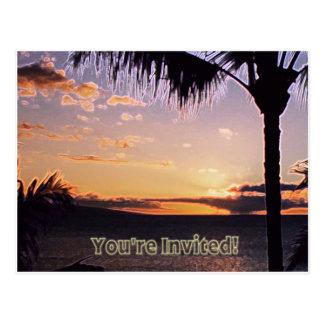 Invitación tropical postal