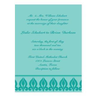Invitación-Trullo/trullo del boda de la flora Postal