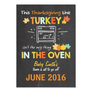 Invitación Turquía del embarazo de la acción de
