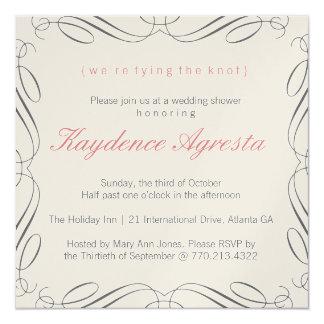 Invitación única de la ducha del boda del vintage