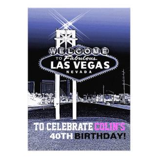 Invitación única de la fiesta de cumpleaños de Las