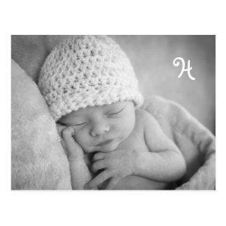 Invitación única del bebé con el sobre de la foto postales
