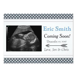 Invitación unisex simple del bebé del ultrasonido