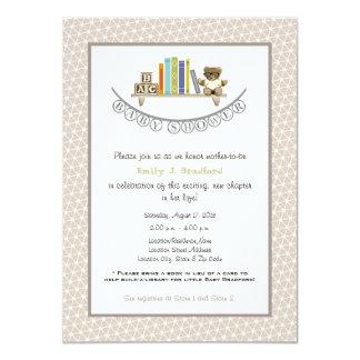 Invitación unisex temática del libro de la fiesta