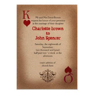 invitación urbana del boda de vegas invitación 12,7 x 17,8 cm