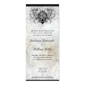Invitación urbana irlandesa del boda del tatuaje invitación 10,1 x 23,5 cm