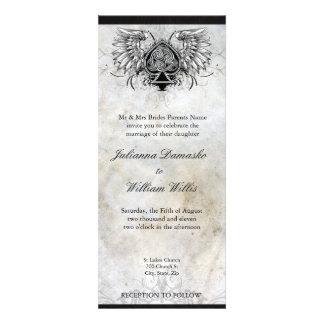 Invitación urbana irlandesa del boda del tatuaje d