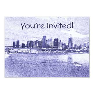Invitación urbana o Announcemen del horizonte de Invitación 12,7 X 17,8 Cm