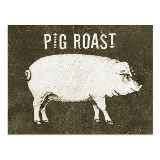 Invitación V de la postal de la carne asada del ce