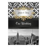 Invitación V del boda del damasco de BW 431 del ho