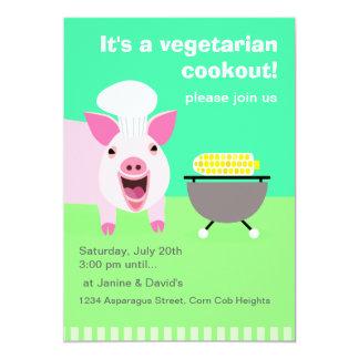 Invitación vegetariana del Cookout Invitación 12,7 X 17,8 Cm