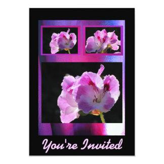 Invitación - ventana Rosado-Púrpura - multiusos Invitación 12,7 X 17,8 Cm