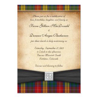 Invitación Ver 2 del boda del tartán del clan de Invitación 12,7 X 17,8 Cm