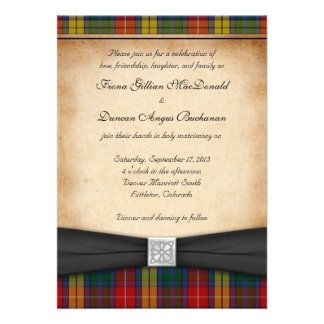 Invitación Ver 2 del boda del tartán del clan de B