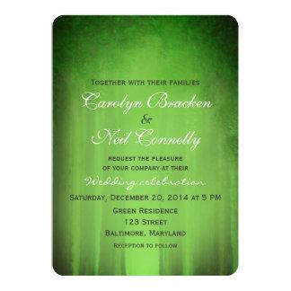 Invitación verde brumosa de la invitación del boda