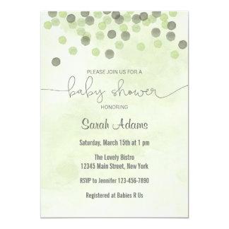 Invitación verde clara de la fiesta de bienvenida
