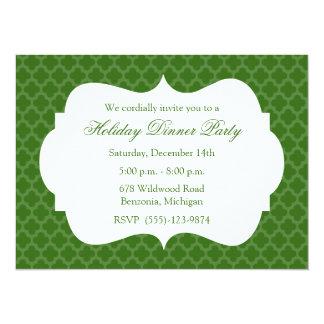 Invitación verde de la celebración de días