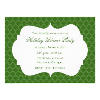 Invitación verde de la celebración de días festivo