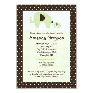 Invitación verde de la fiesta de bienvenida al