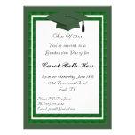 Invitación verde de la fiesta de graduación