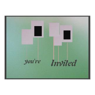 Invitación - verde de la pendiente invitación 16,5 x 22,2 cm