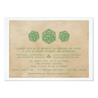 Invitación verde del boda del videojugador de los