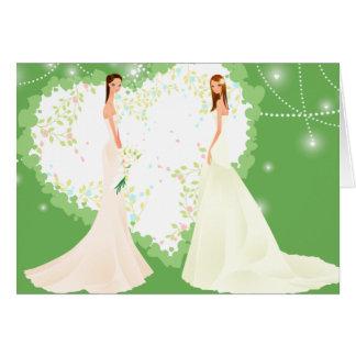 Invitación verde del boda tarjeta de felicitación