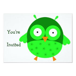 Invitación verde del búho