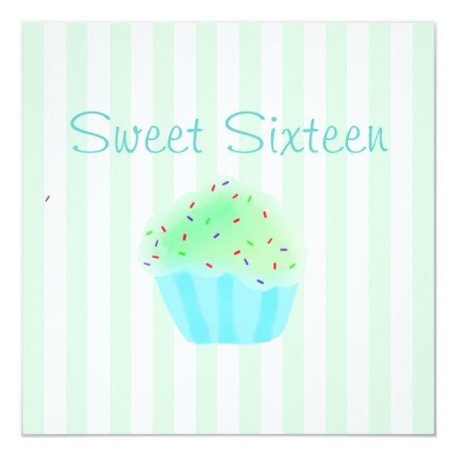 Invitación verde del cumpleaños de la magdalena