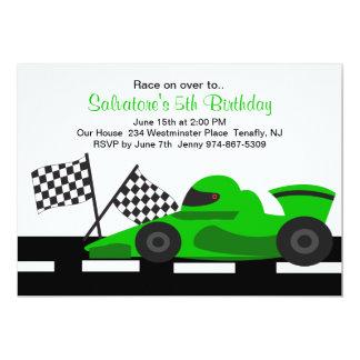 Invitación verde del cumpleaños de los muchachos
