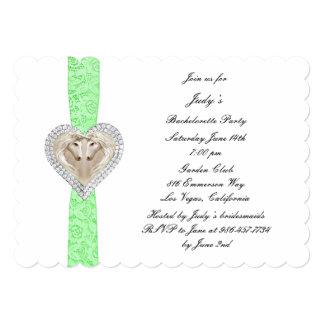 Invitación verde del fiesta de Bachelorette del