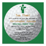 Invitación verde del fiesta de retiro del golf de