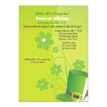 Invitación verde del fiesta del sombrero de copa