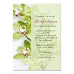 Invitación verde del retiro de la orquídea del invitación 12,7 x 17,8 cm