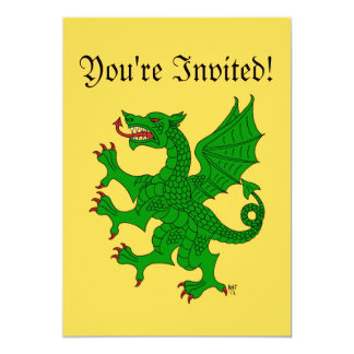 Invitación (verde) desenfrenada del dragón