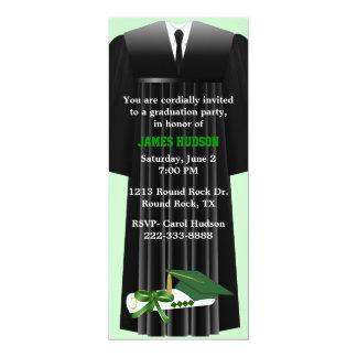 Invitación verde elegante de la fiesta de