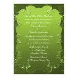 Invitación verde elegante del boda