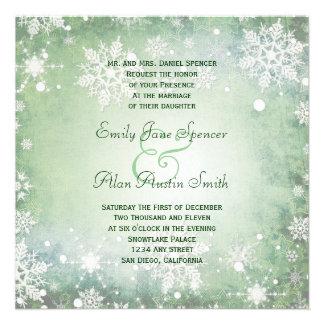 Invitación verde hivernal del boda