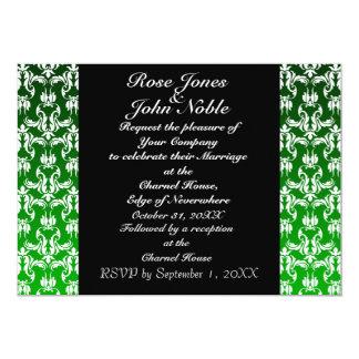 Invitación (verde) negra azul del boda
