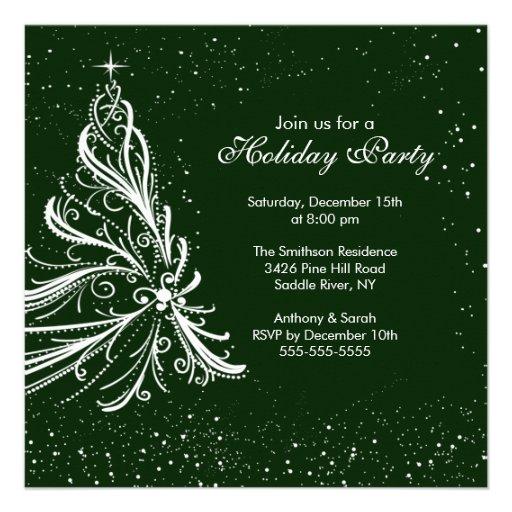 Invitación verde y blanca elegante de la celebraci
