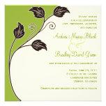 Invitación verde y de marfil de la primavera del b