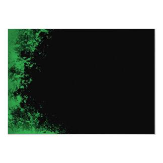 Invitación verde y negra del cepillo 2 del Grunge