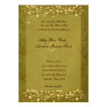 Invitación veteada verde del boda del árbol del or