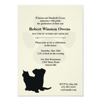 Invitación veterinaria de la graduación de la