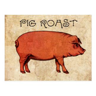 Invitación VI de la postal de la carne asada del c