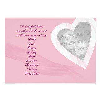 Invitación Wispy del boda de la foto del corazón