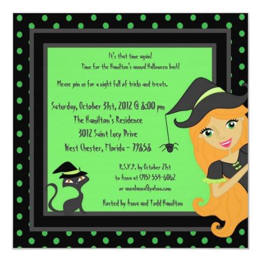 invitación Witching del fiesta de Halloween de la