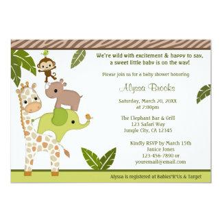 Invitación WJC de la fiesta de bienvenida al bebé Invitación 12,7 X 17,8 Cm