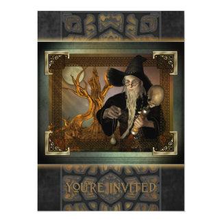 Invitación X-Grande mágica de los magos Invitación 13,9 X 19,0 Cm