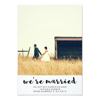 Invitación y celebración simples del boda del